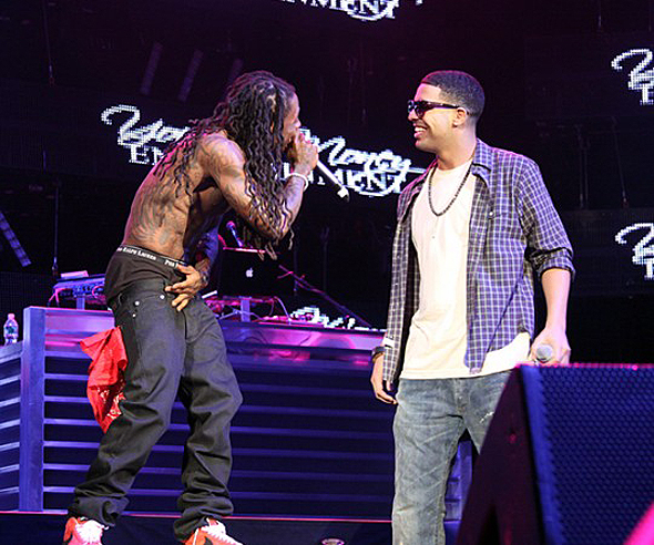 Lil Wayne Drake Right Above It. Lil Wayne